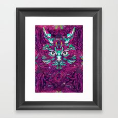 Space Cat (Feat. Bryan Gallardo) Framed Art Print