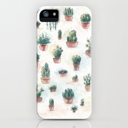 Cacti nd succulents iPhone Case
