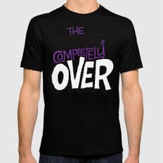The Internet Is Completely Over SMALL Black Mens Fitted Tee