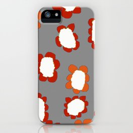 Daisies on Putty pattern iPhone Case