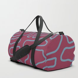 Purple and blue blob messy mosaic pattern  Duffle Bag