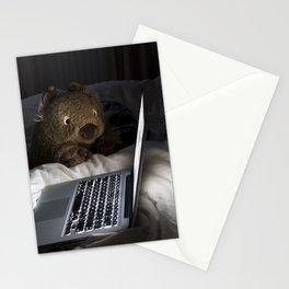 Wombat Internet Addiction Stationery Cards