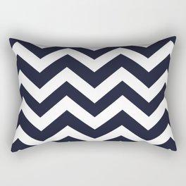 Elderberry - blue color - Zigzag Chevron Pattern Rectangular Pillow