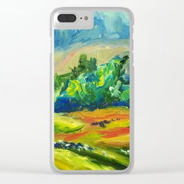 New Zealand Landscape - Waikato Farms Clear iPhone Case