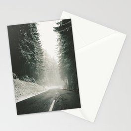 Forest Road In Winter Stationery Cards
