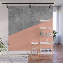 Geometry 101 Sweet Peach Pink Wall Mural