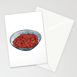Illustration of a Chinese Snack - Fried salted peanuts Stationery Cards