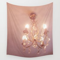 chandelier Wall Tapestries featuring Warm Light by Cassia Beck