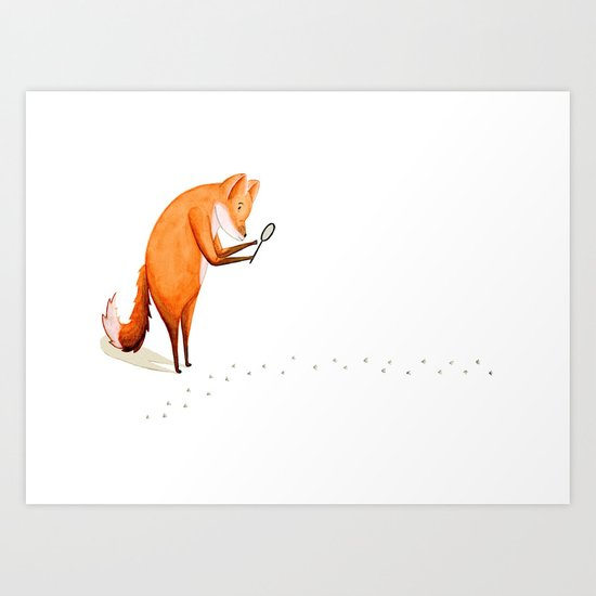 Foxy Detective Art Print