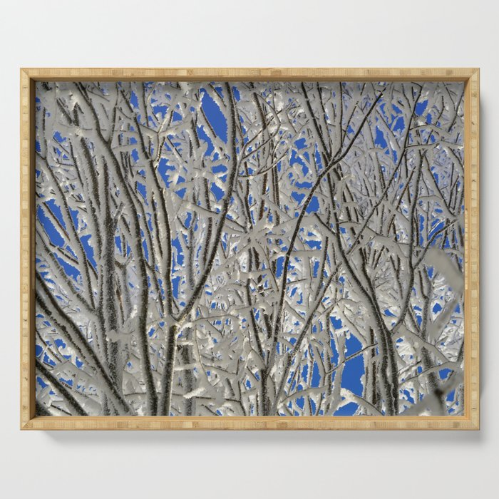 Frosted branches Serving Tray