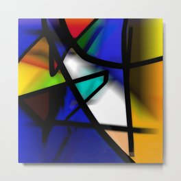 After Midnight abstract art Metal Print