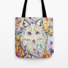 Frost - Watercolor fox painting Tote Bag