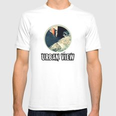Urban View MEDIUM Mens Fitted Tee White