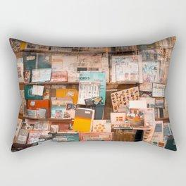 Collectibles Shop in Gent Rectangular Pillow