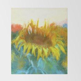 Sunflower Glow Artwork Throw Blanket