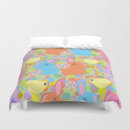 Bunnies and Friends Duvet Cover