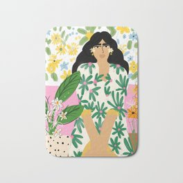Floral fever Bath Mat