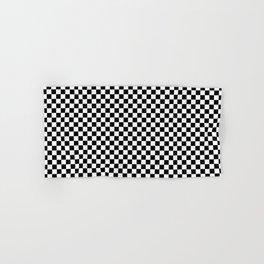 Black White Checks Minimalist Hand & Bath Towel