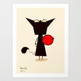 FRONT & BALL / Borderline Bill Art Print