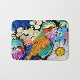Lilac-breasted roller Bath Mat