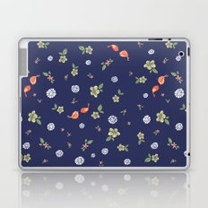 Floral with Birds on blue Laptop & iPad Skin