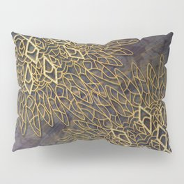 Gold Mandalas on Violet Background Pillow Sham
