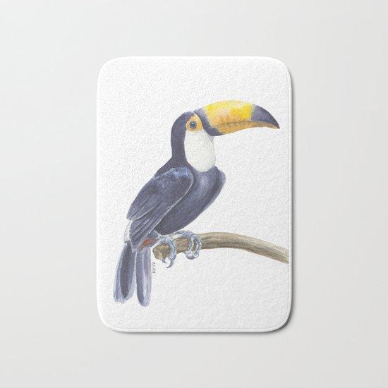 Toucan, tropical bird Bath Mat