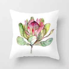 Protea Flower Throw Pillow