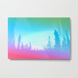 Bright Colorful Forest Metal Print