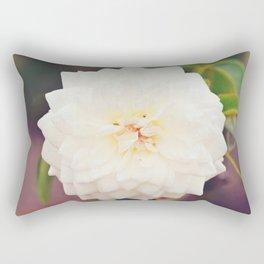 White Petals Rectangular Pillow