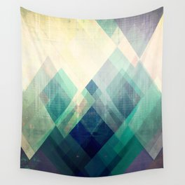 Mountains print, Abstract print, geometric wall art, abstract mountain, minimalist art, modern art, Wall Tapestry