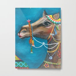 Camel in the Orient Metal Print