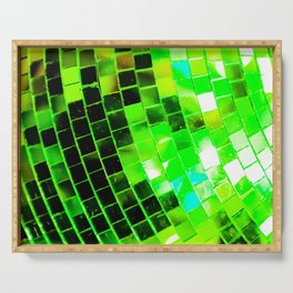 Funky Green Disco Ball Serving Tray