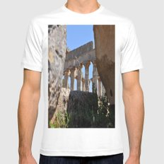 with temple ruins White SMALL Mens Fitted Tee
