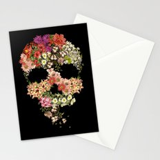 Skull Floral Decay Stationery Cards