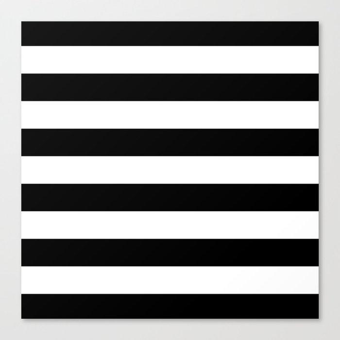Stripe Black And White Horizontal Line Bold Minimalism Stripes Lines Leinwanddruck