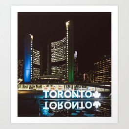 The Toronto Sign Art Print