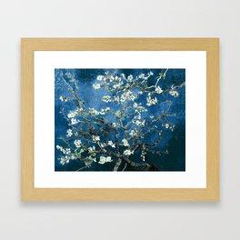 Van Gogh Almond Blossoms : Ocean Blue Framed Art Print