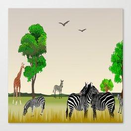 Animal Collage 3 Canvas Print