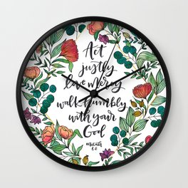 Act Justly Wall Clock