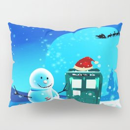 Tardis With Snow Ball Gift Christmas Pillow Sham