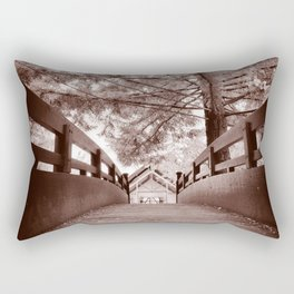 Sepia Bridge Rectangular Pillow