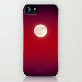 The Moon In Red iPhone Case