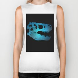 T-Rex Skull Biker Tank