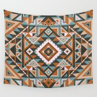 native Wall Tapestries featuring Native by nate duval