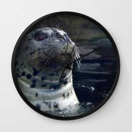 Happy Leopard Seal Wall Clock