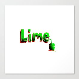 Lime in the Coconut 2 Canvas Print