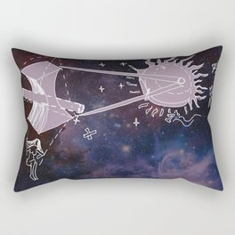 divine geometry Rectangular Pillow
