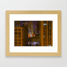Four Color Construction Site Framed Art Print