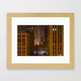 Four Color Construction Site Framed Art Print